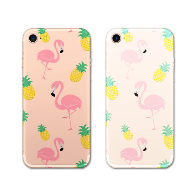 Proposition n°28 du concours Flamingo and pineapple repeating pattern for a phone case.