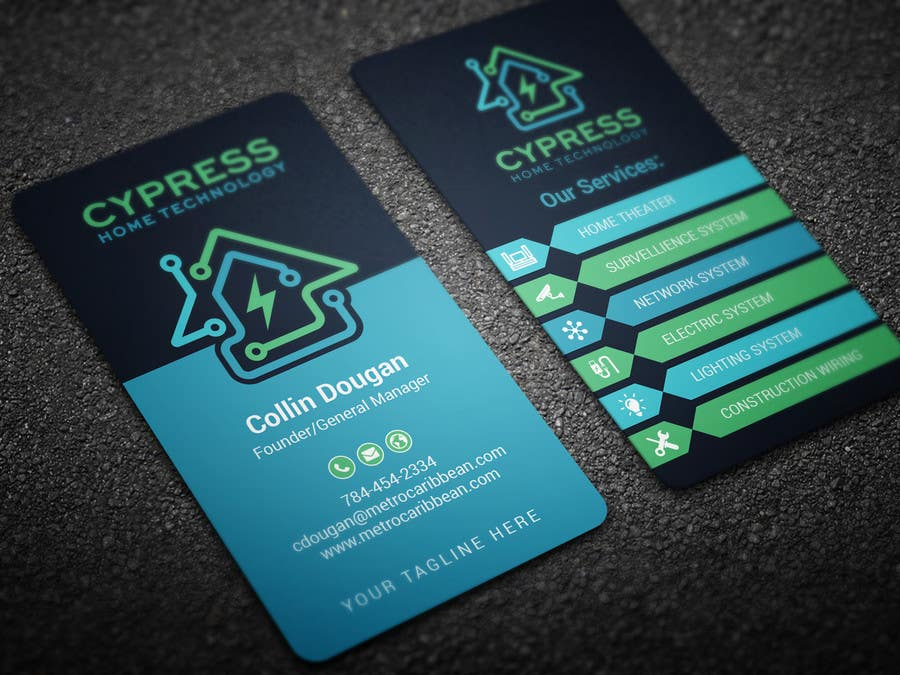 Top Entries - Business Card Design - Technology Integration ...