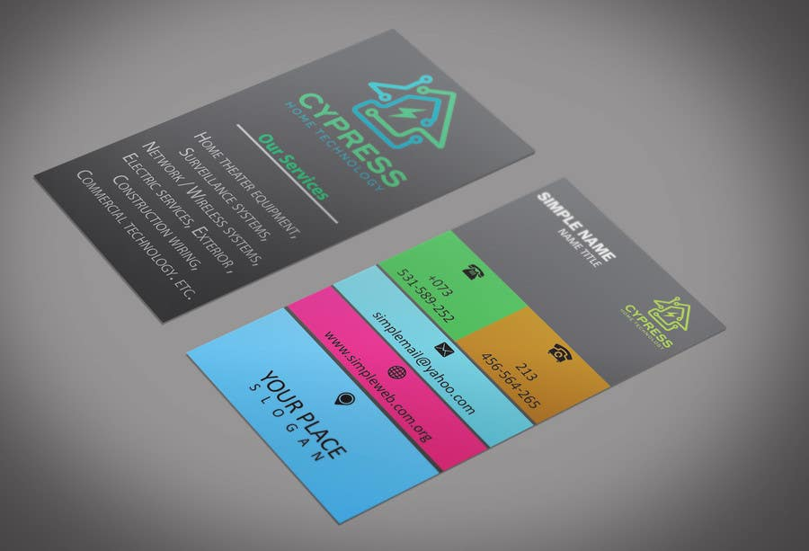 Entry #57 by mohammadArif200 for Business Card Design - Technology ...