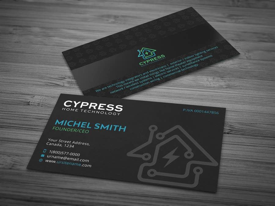 Entry 65 By Designprocess For Business Card Design Technology Integration Electrician Freelancer