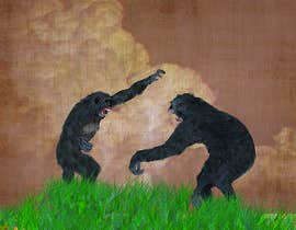nº 4 pour Drawing of two realistic fighting male chimps par Wissam007
