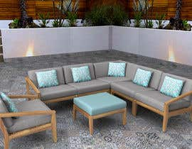 nº 36 pour Outdoor sectional wooden set -design par sarasoudi