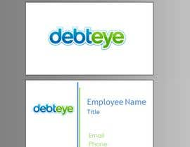 #134 pentru Business Card Design for Debteye, Inc. de către CorrectComplete