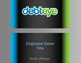 #133 para Business Card Design for Debteye, Inc. por CorrectComplete