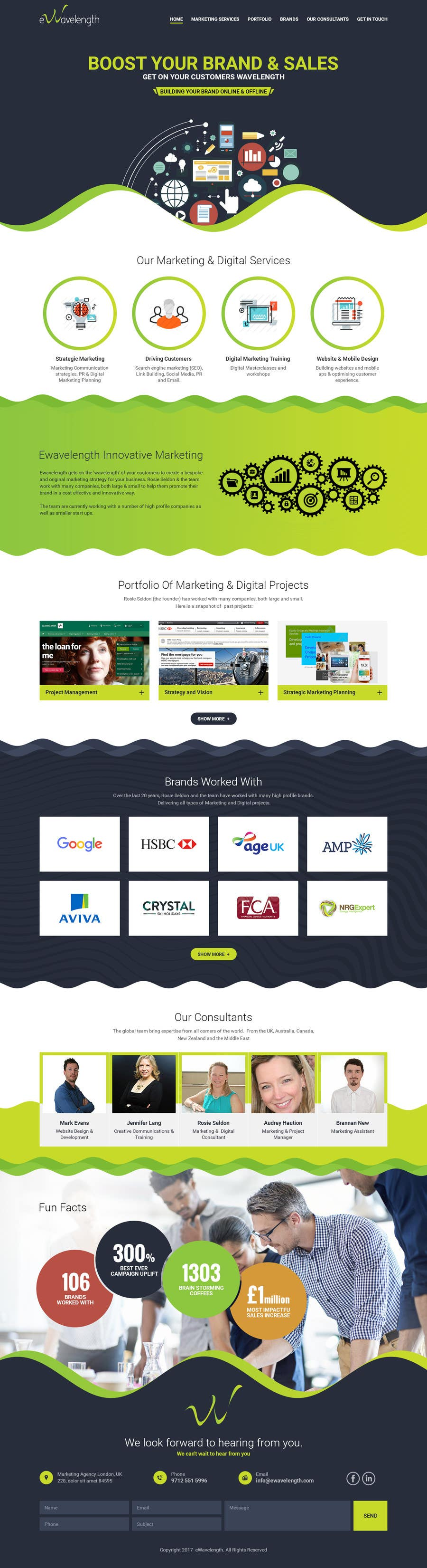 Proposition n°6 du concours Design a Website Homepage for Marketing and Digital Company