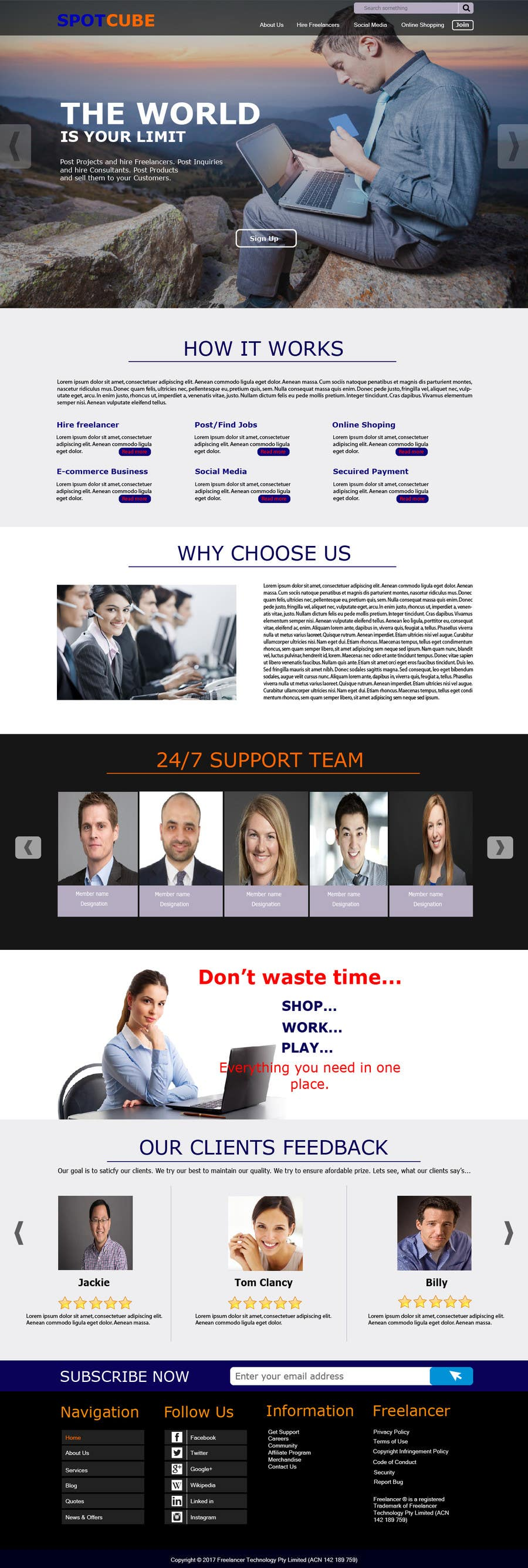 Proposition n°63 du concours website background Homepage