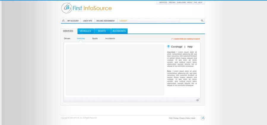 Penyertaan Peraduan #60 untuk Website Design for First InfoSource