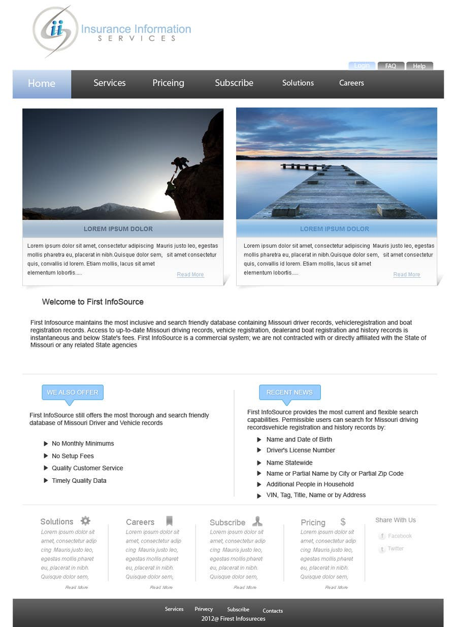 Contest Entry #                                        58                                      for                                         Website Design for First InfoSource