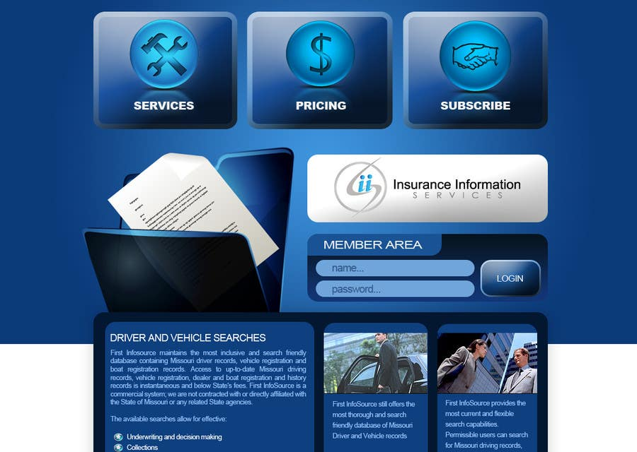 Contest Entry #                                        53                                      for                                         Website Design for First InfoSource