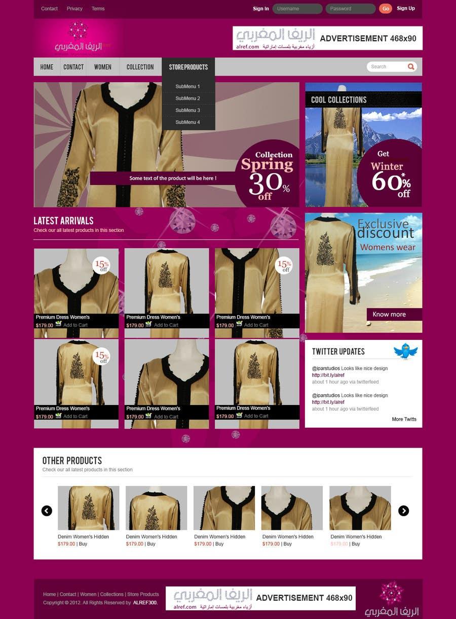 Inscrição nº                                         7                                      do Concurso para                                         Website Design for fashion business