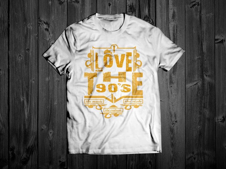 Proposition n°28 du concours Design a T-Shirt_ilovethe90s