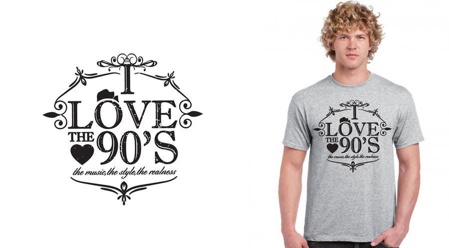 Proposition n°25 du concours Design a T-Shirt_ilovethe90s