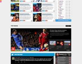 nº 52 pour Design a Mockup for Football website par nikil02an