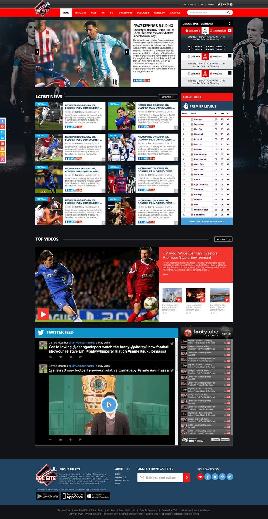 Proposition n°53 du concours Design a Mockup for Football website