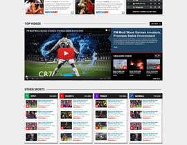 nº 57 pour Design a Mockup for Football website par nikil02an