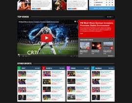 nº 58 pour Design a Mockup for Football website par nikil02an