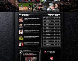nº 54 pour Design a Mockup for Football website par salauddinahmed94