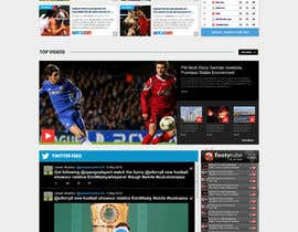 nº 55 pour Design a Mockup for Football website par GRAPHICD7