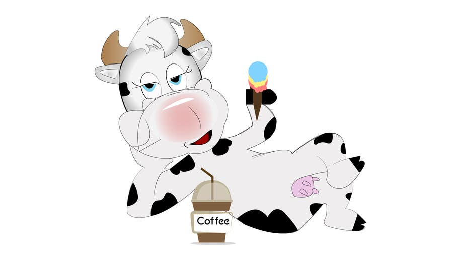 Proposition n°9 du concours Modify Illustration of Cow Ice Cream Mascot