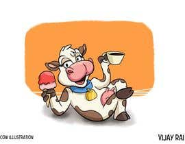 nº 15 pour Modify Illustration of Cow Ice Cream Mascot par vijayrai1989