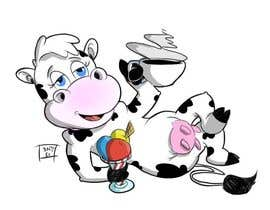 nº 7 pour Modify Illustration of Cow Ice Cream Mascot par the12