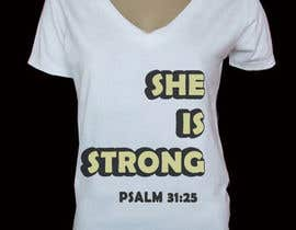 nº 56 pour Design a T-Shirt -  She is Strong par pallameena