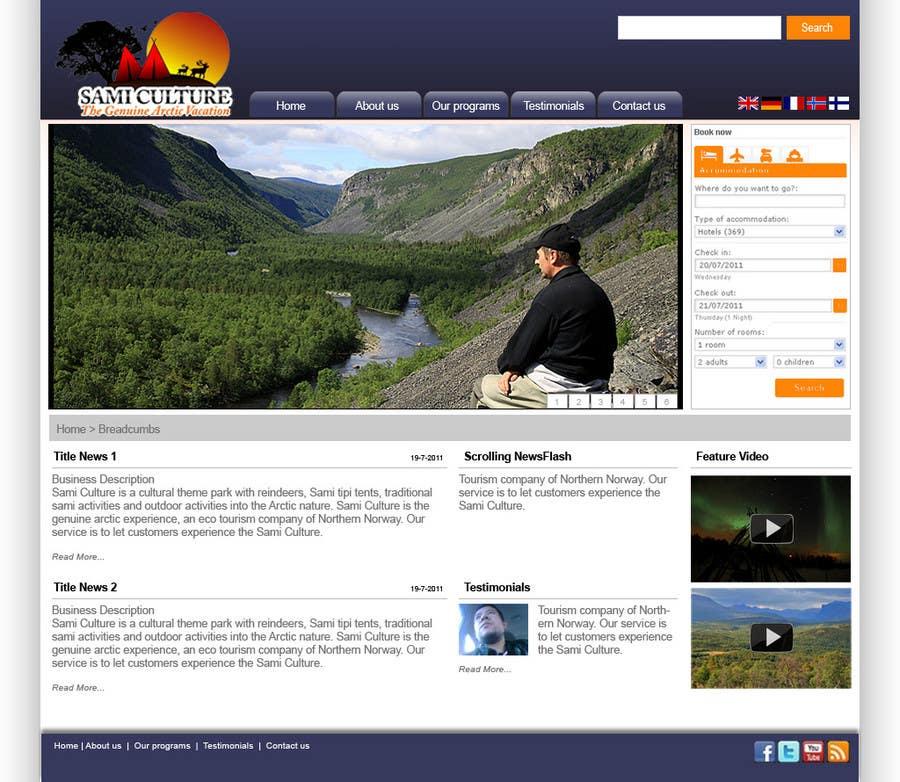 Contest Entry #                                        74                                      for                                         Website Design for Sami Culture (Joomla!)