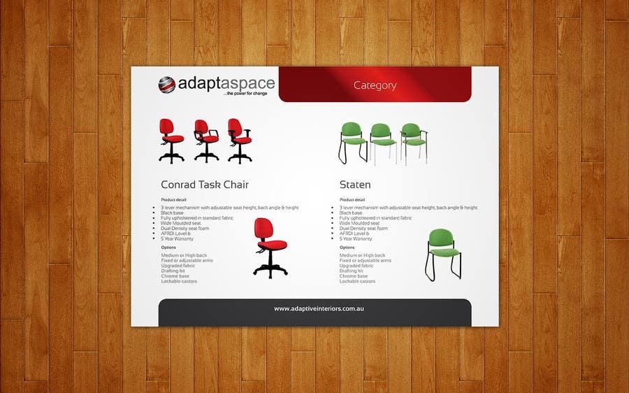 Inscrição nº 19 do Concurso para Catalogue Design for adaptaspace