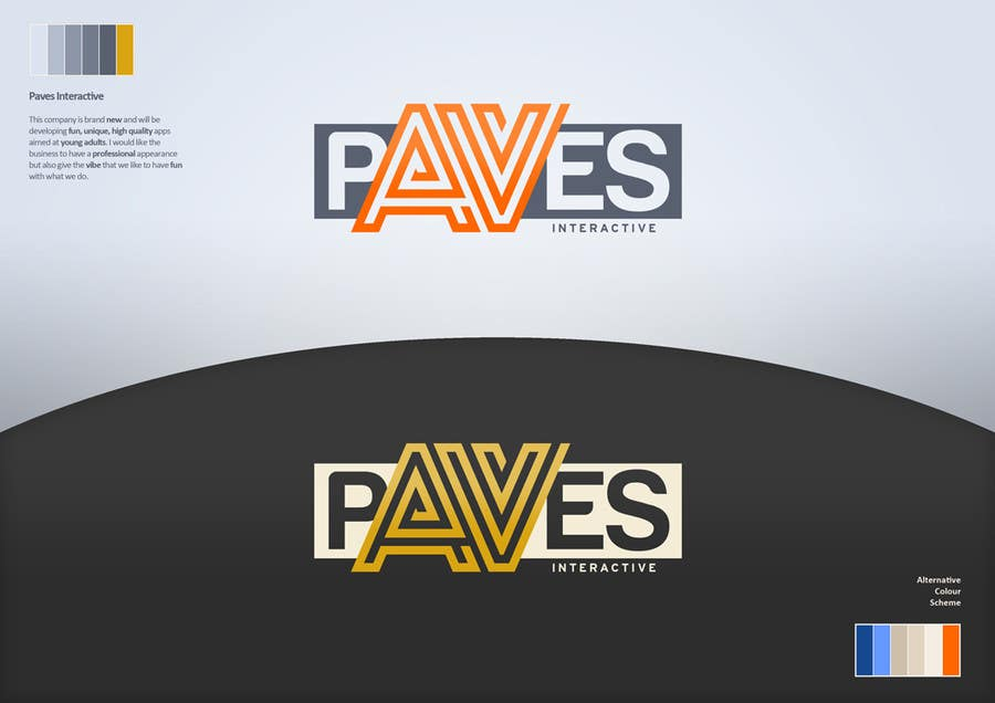 Kilpailutyö #225 kilpailussa Logo Design for Paves Interactive