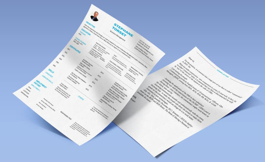 Proposition n°6 du concours Well designed Resume with a clean. minimalistic and zen feel