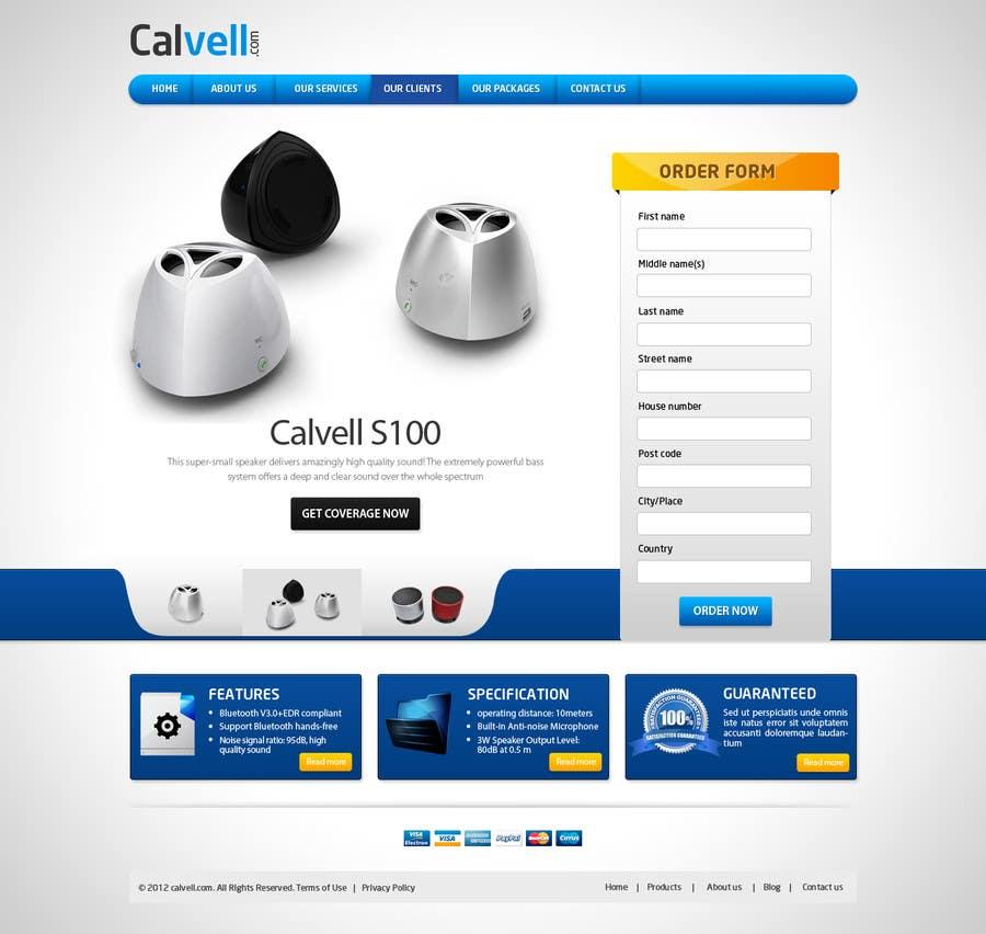 #80 for Website Design for Calvell.com by mughikrish