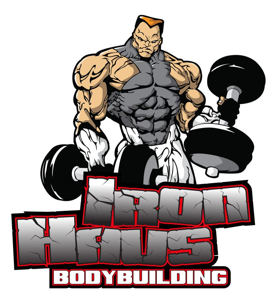 Entry #105 by MyPrints for Logo Design for Iron Haus Bodybuilding ... for Bodybuilding Graphic Design  76uhy