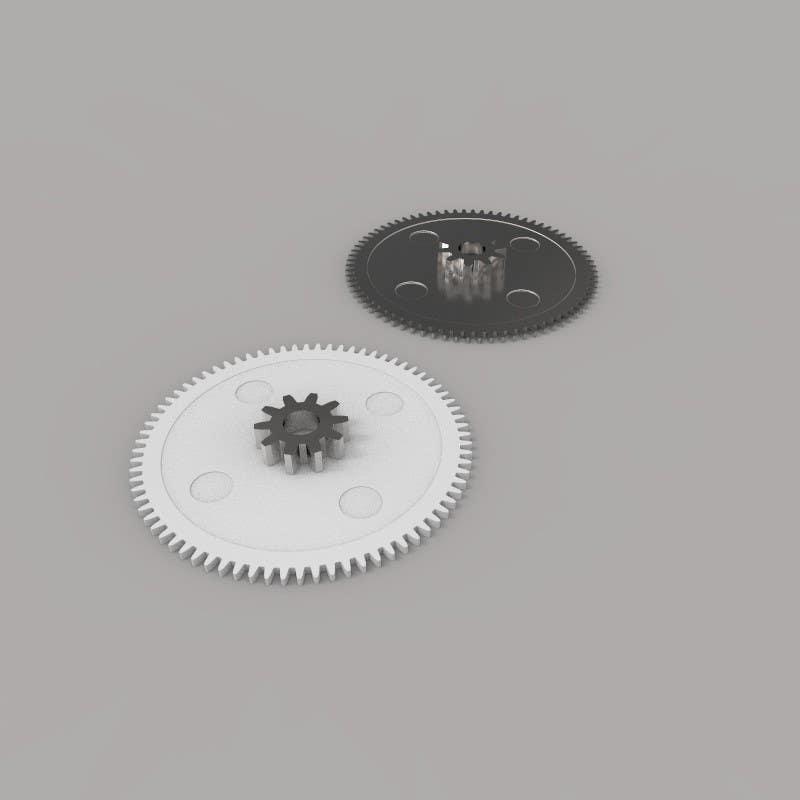 Proposition n°10 du concours Simple 3D illustration of metal/plastic gears