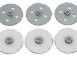nº 16 pour Simple 3D illustration of metal/plastic gears par ceanet