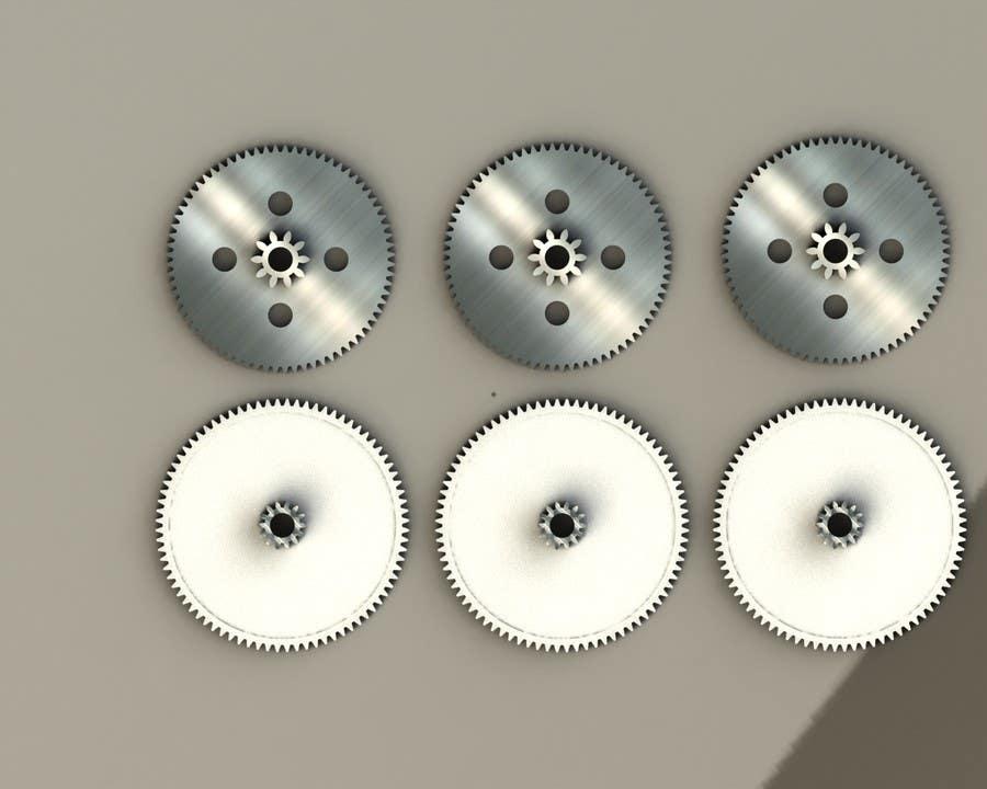 Proposition n°13 du concours Simple 3D illustration of metal/plastic gears