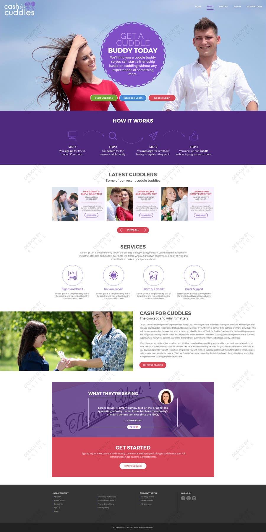 Penyertaan Peraduan #15 untuk Design a Website Mock-up