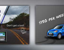 "nº 23 pour Design 2 banners ""Don't get a lost!"" and ""Suzuki Alto $150 per week"" par alinaioana28"