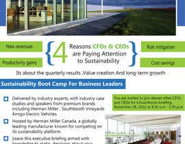 #47 para Business Sustainability Boot Camp - 1 page digital flyer por rsbhat