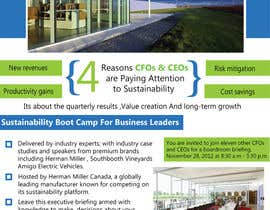 rsbhat tarafından Business Sustainability Boot Camp - 1 page digital flyer için no 42