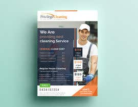 nº 56 pour Design an a5 flyer for a cleaning business par dotrana