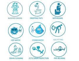 nº 8 pour Small illustrations for a plumbing company par rodelashanta