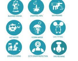 nº 16 pour Small illustrations for a plumbing company par rodelashanta