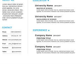 nº 23 pour I need someone to deign an easily editable resume par ruman254