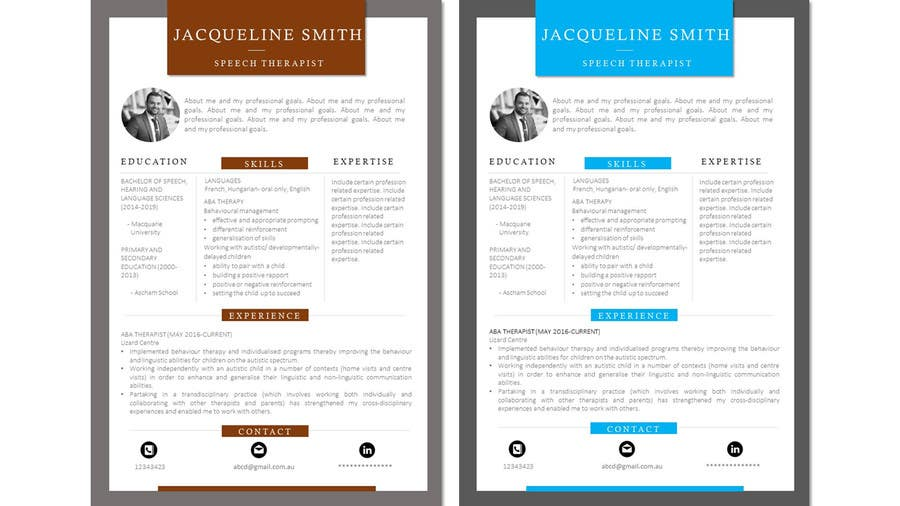 Proposition n°30 du concours I need someone to deign an easily editable resume