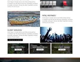 nº 34 pour Design a Website Mockup par atikul11