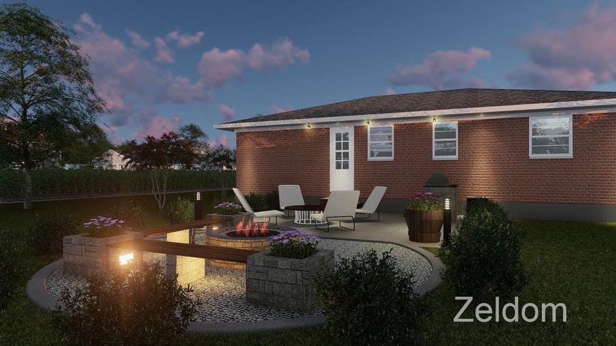 Proposition n°1 du concours 3D Modelling - Backyard Vision Layout