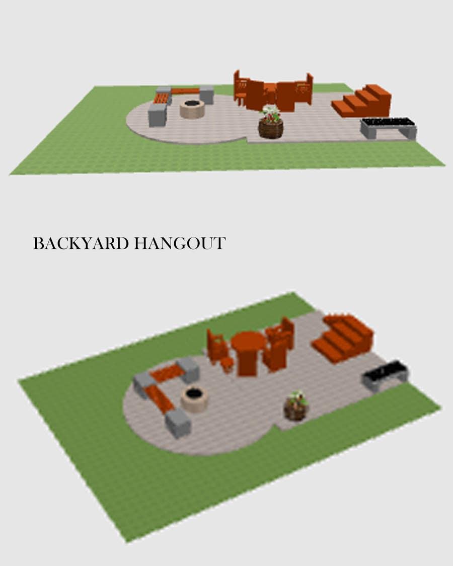 Proposition n°2 du concours 3D Modelling - Backyard Vision Layout