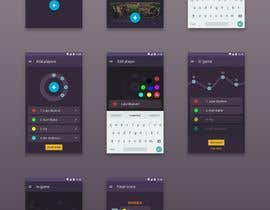 nº 25 pour Design a mockup for a board game score tracking app par DanilaKolbasin