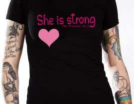 nº 29 pour Design a T-Shirt -  She is Strong -- 2 par designernayma992