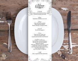 nº 13 pour Design a wedding menu par gcavalcanti
